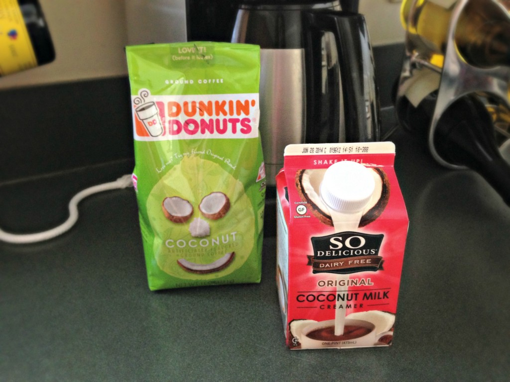 dunkin donuts coconut coffee and so delicious creamer