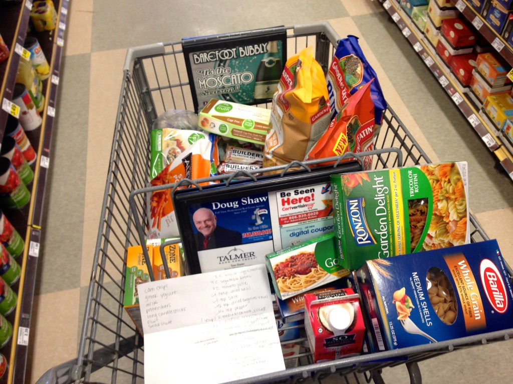 healthy grocery shopping