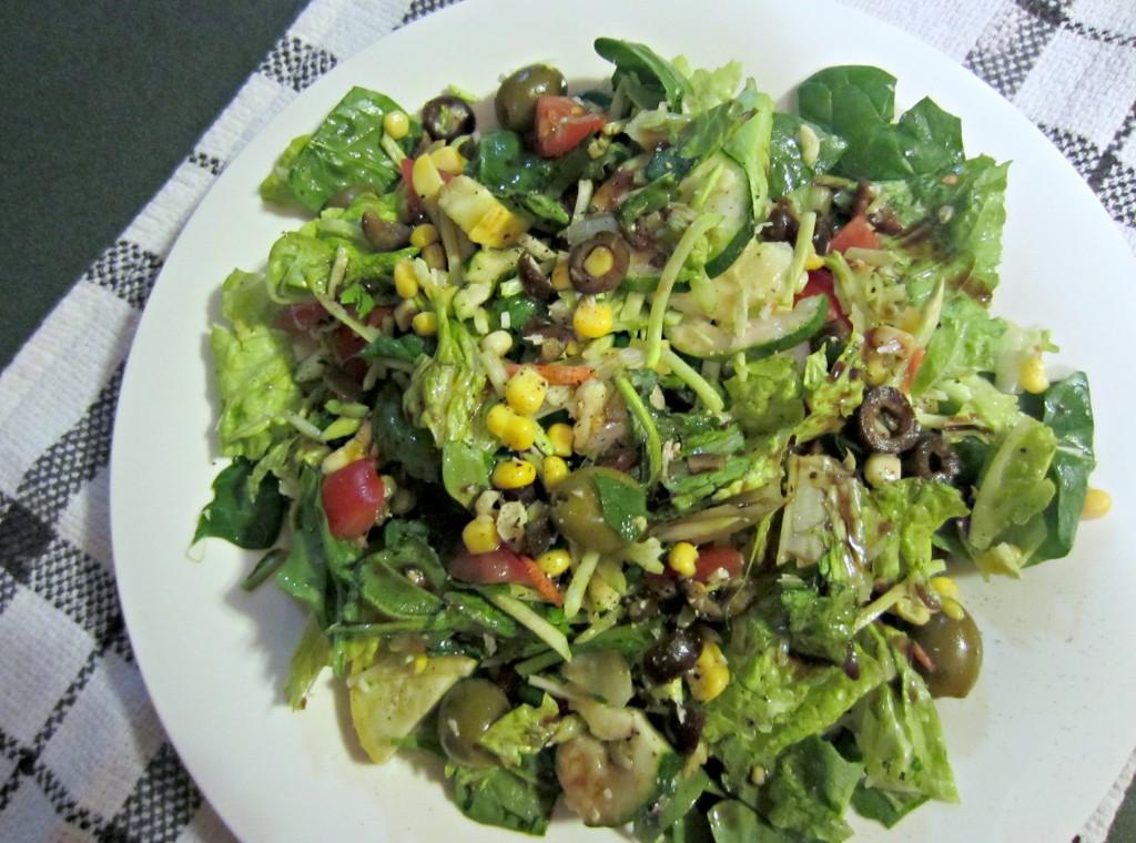 monster green vegetable salad