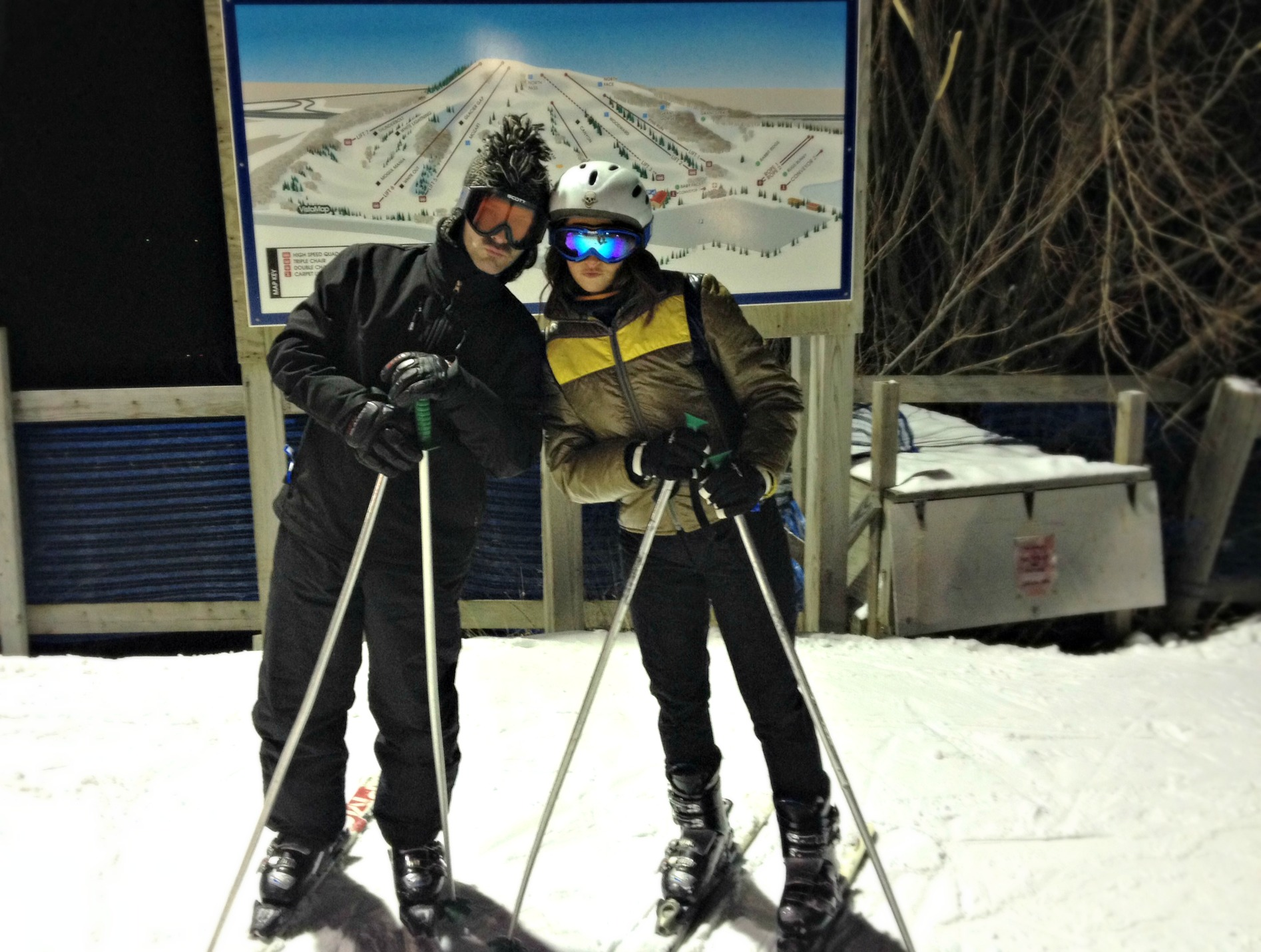 scott and i skiing for the first time together