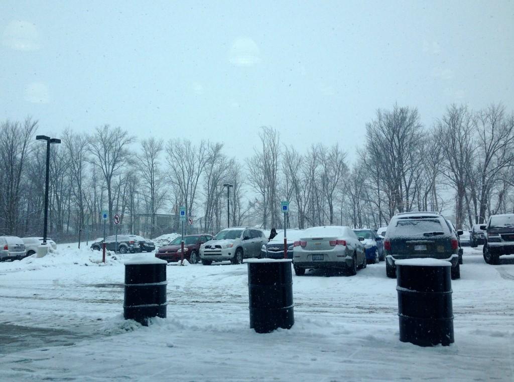 snowy morning at church