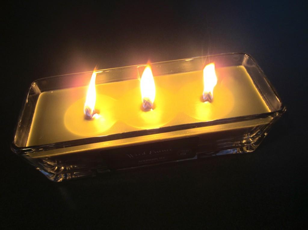 wood essence candle