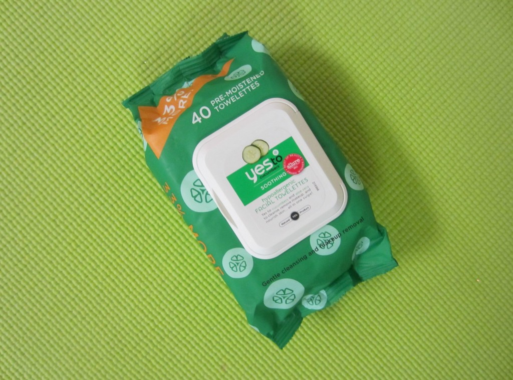 yes to cucumbers facewipes