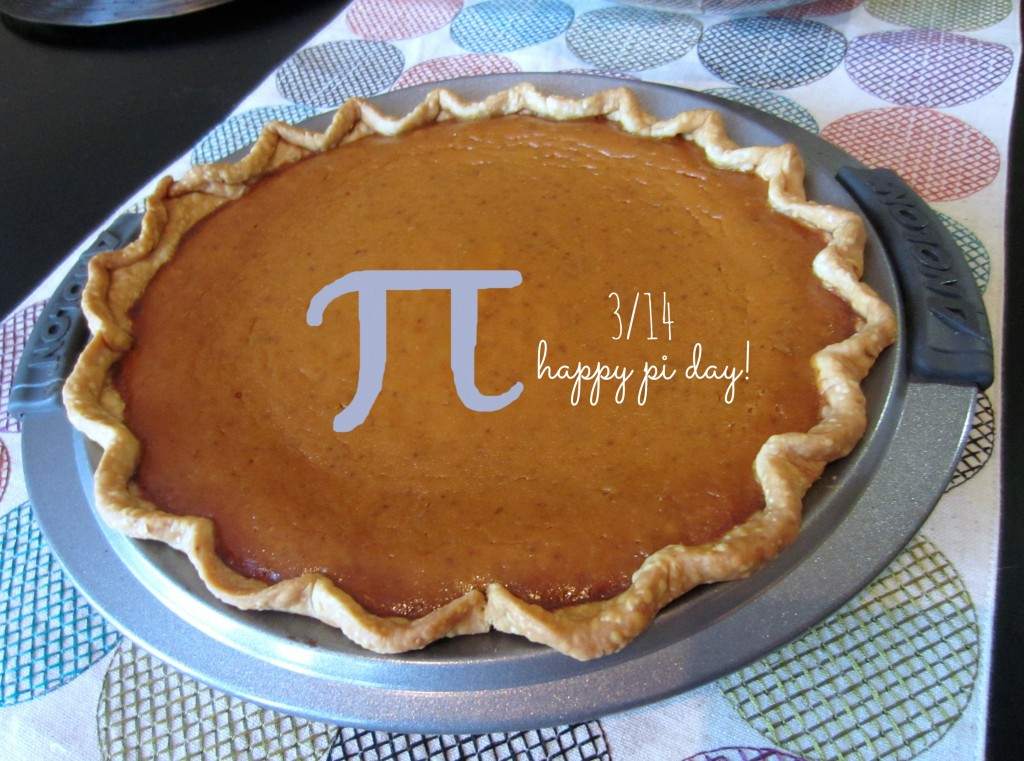 Pumpkin Pie for pi day