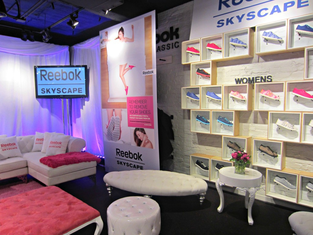 Reebok Skyscape Launch Party setup