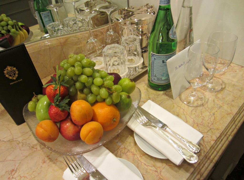 The Plaza Hotel fruit bowl and service