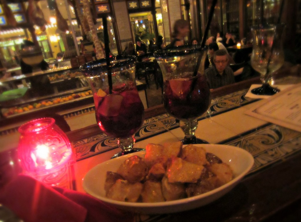 civeche sangria and potatoes