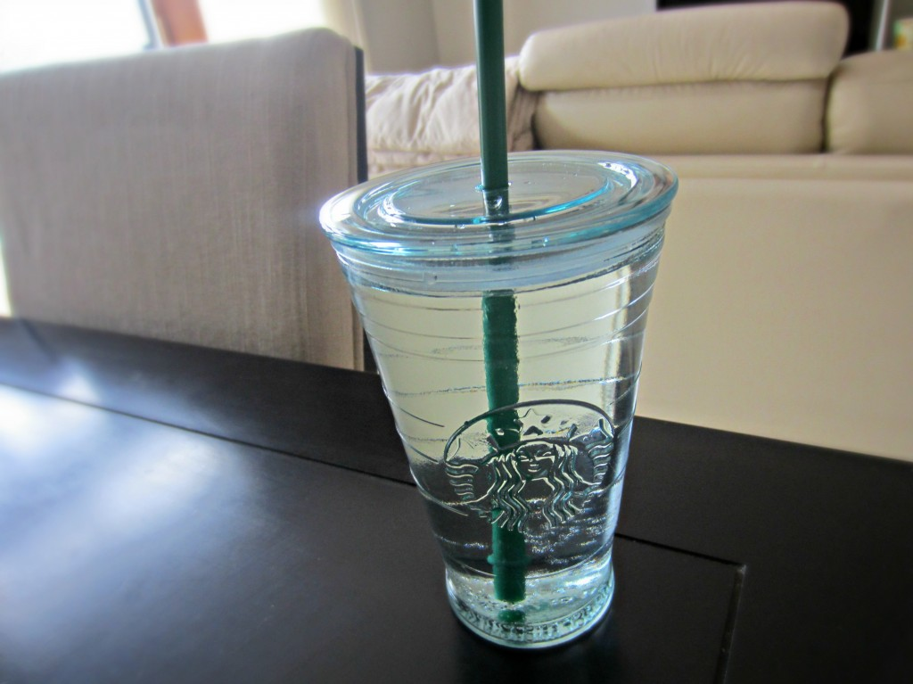 glass starbucks cup