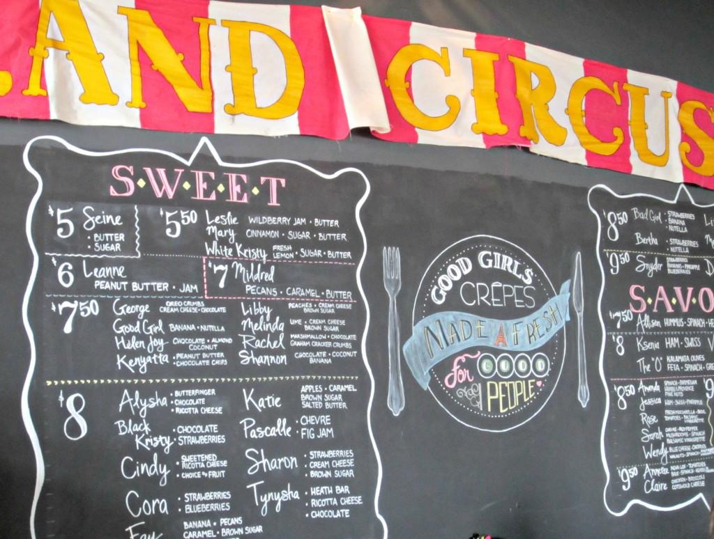 good girls crepes menu
