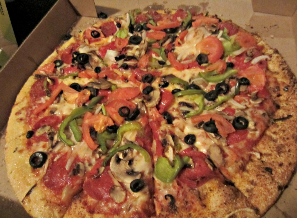 hungry howies veggie pizza with pepperoni