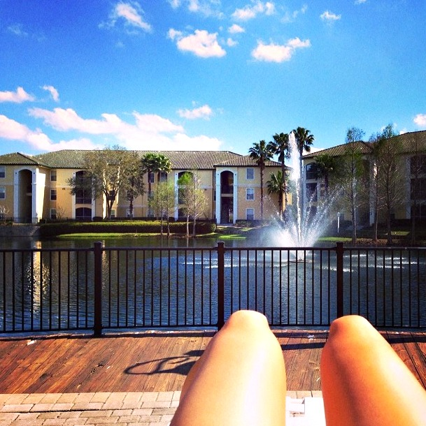 laying out in sunny florida
