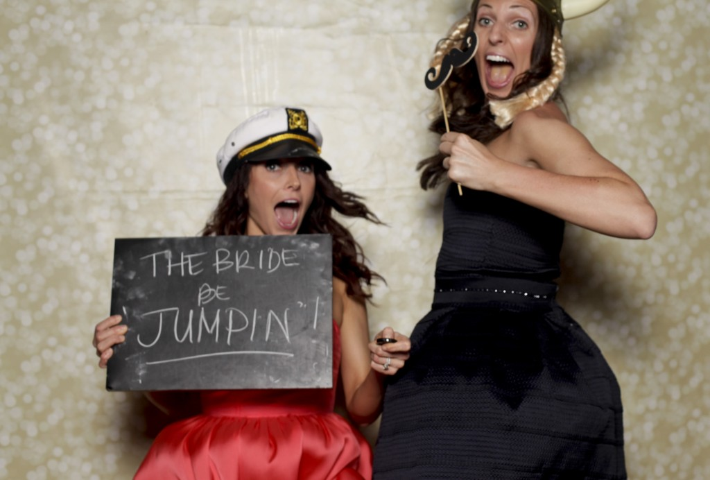 Fun wedding photo booth