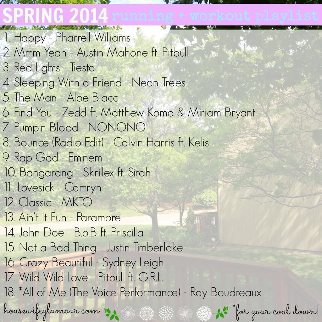Spring 2014 Running Workout Playlist