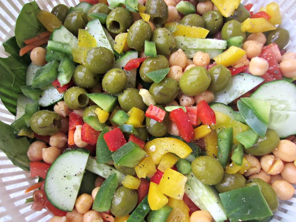 bright veggie salad