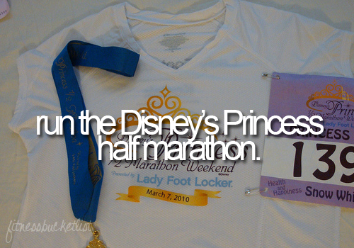 disney princess half fitness bucket list
