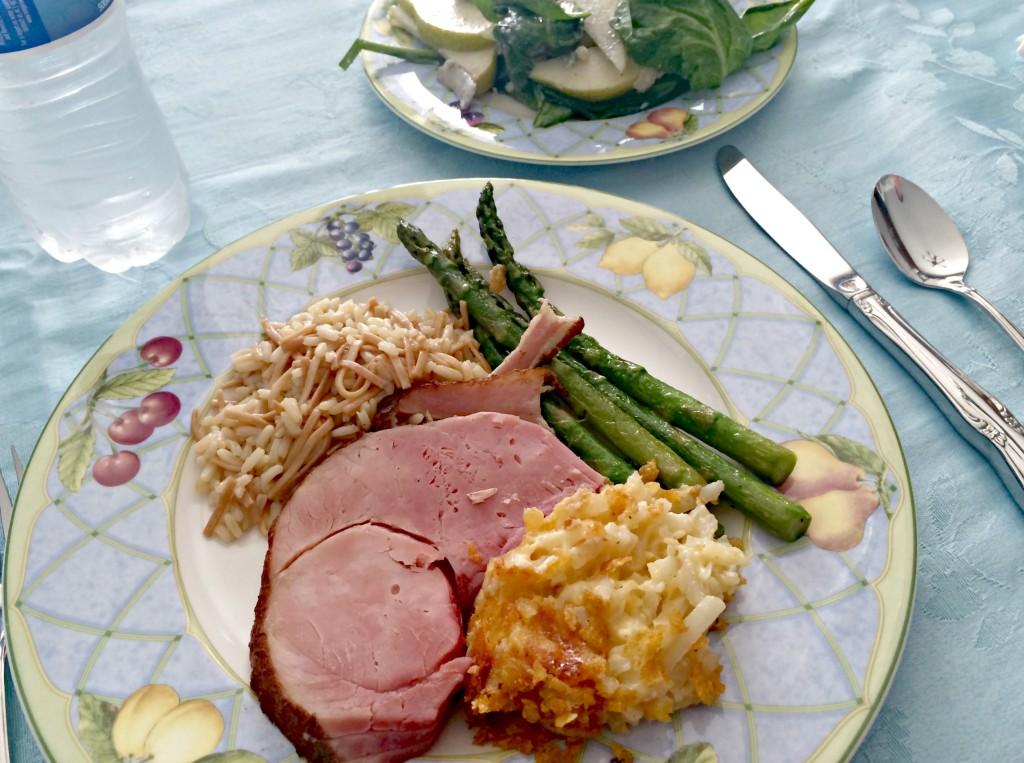 easter dinner plate