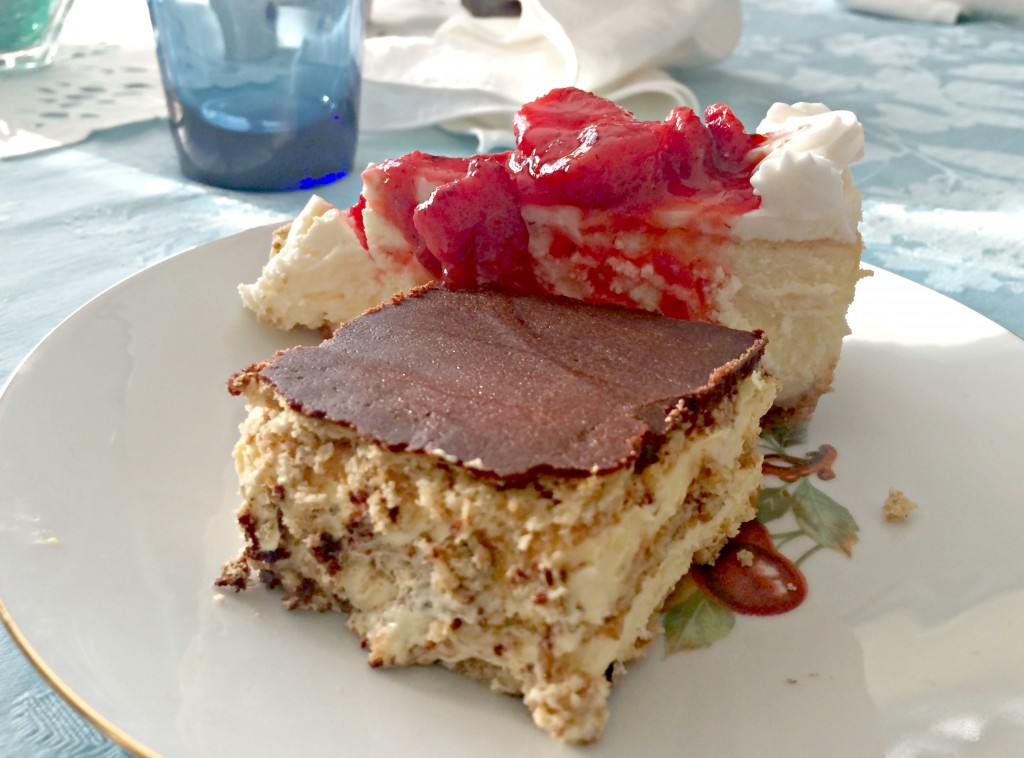 eclair cake and cheesecake