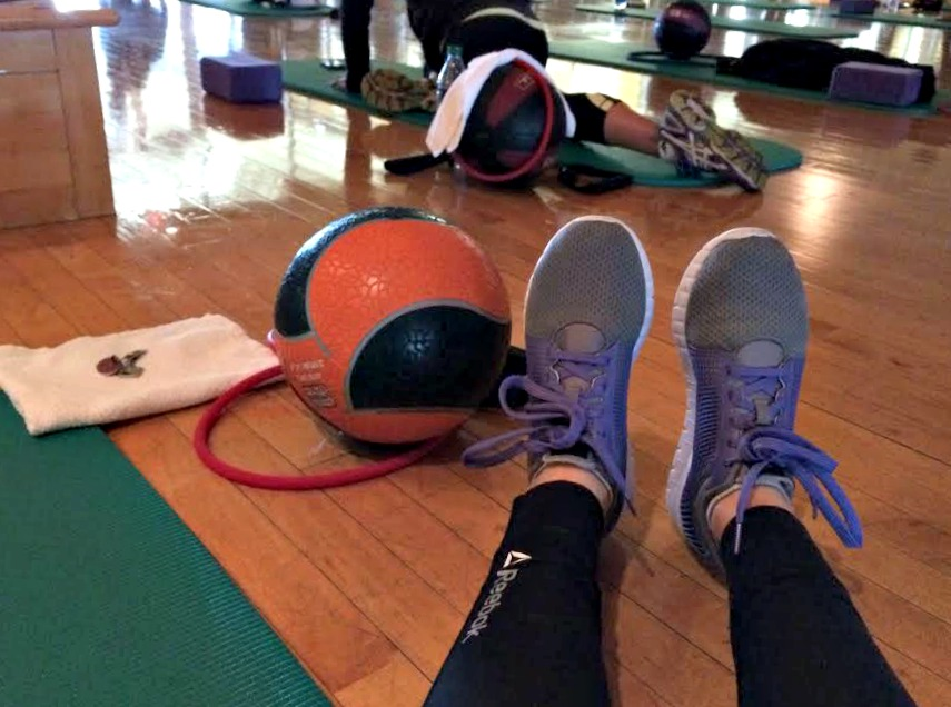 fitness pilates class at station