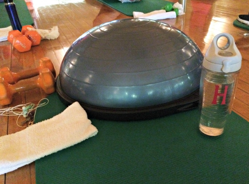 fitness pilates with bosu ball
