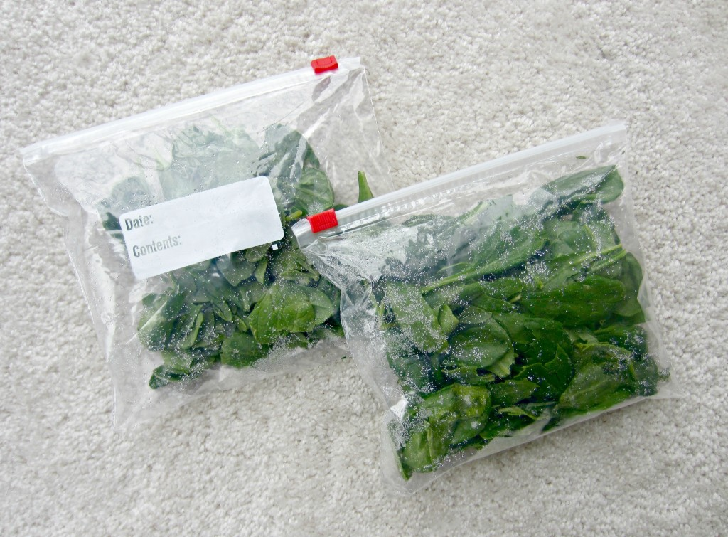 freeze spinach to make it last longer