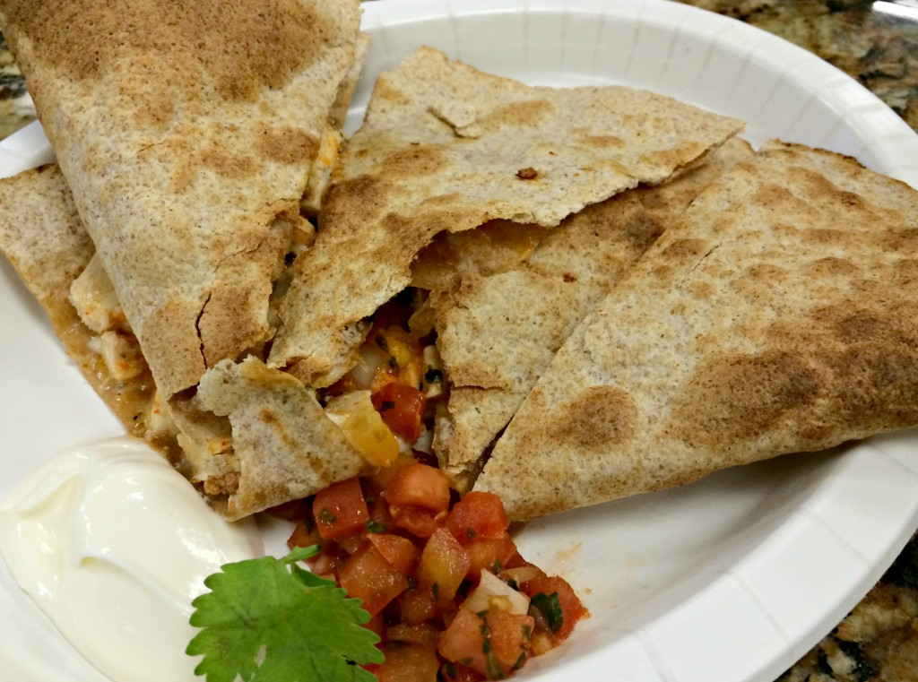 lifetime cafe chipotle quesadilla