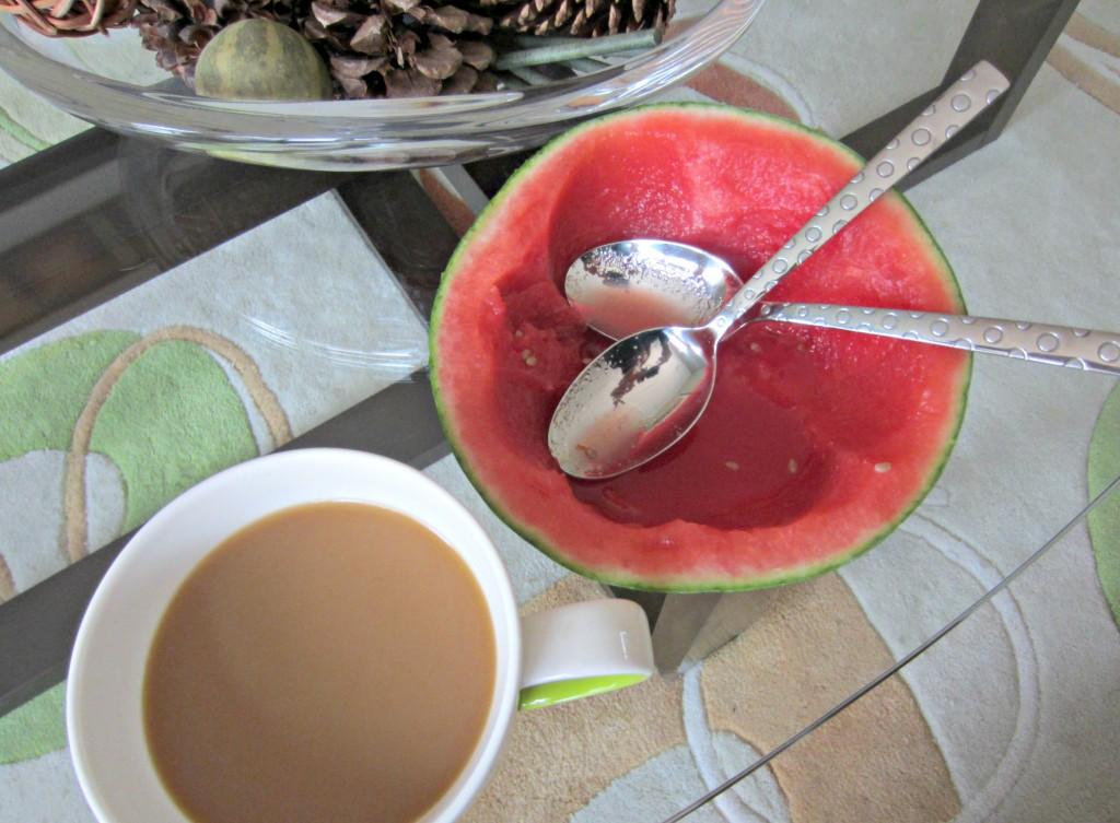 mini melon and coffee