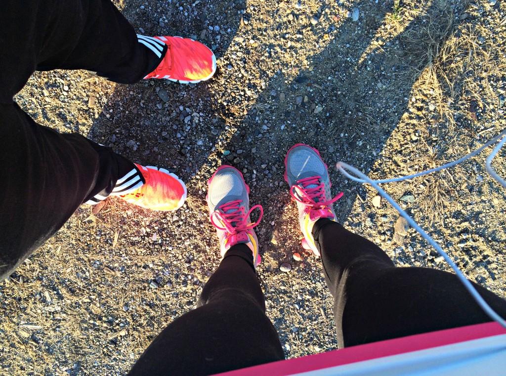 morning training trail run