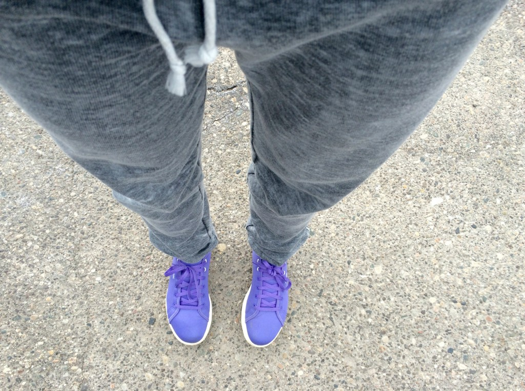 reebok yoga burnout pant and skyscape sneakers