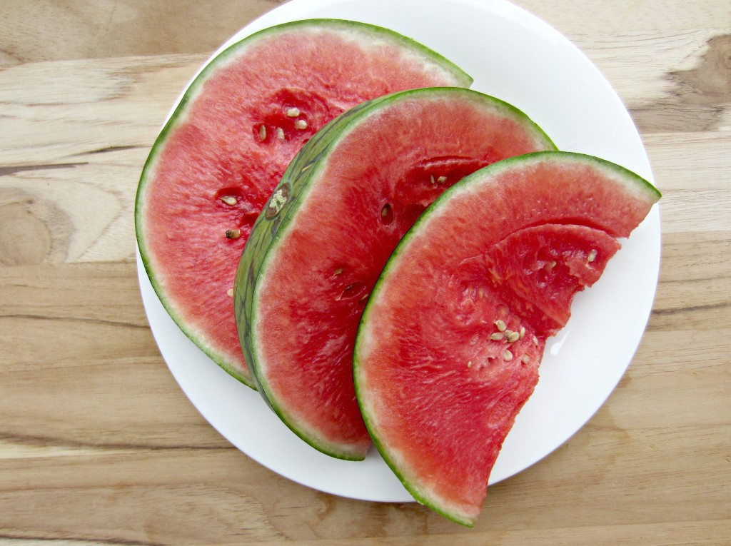 sliced mini watermelon