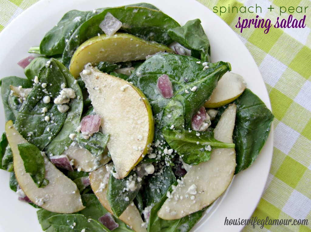 spinach and pear spring salad recipe