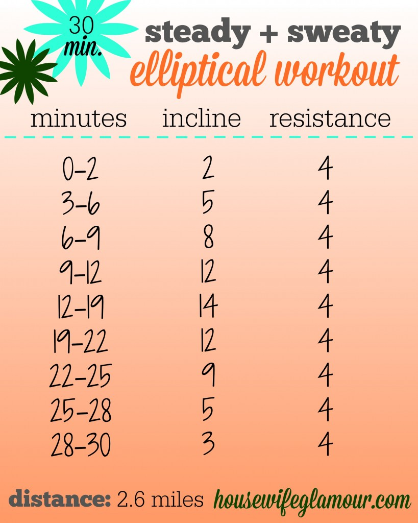 steady and sweaty 30 min ellipticcal workout