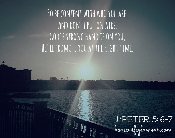 1 peter 5 6-7 quote be confident in who you are
