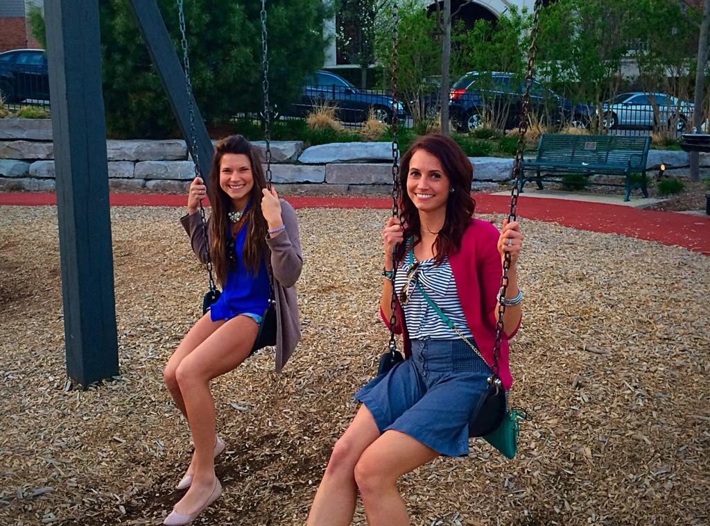 alex and i on swing set