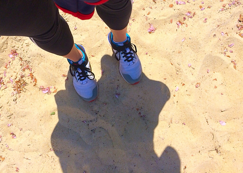 sneakers in the sand