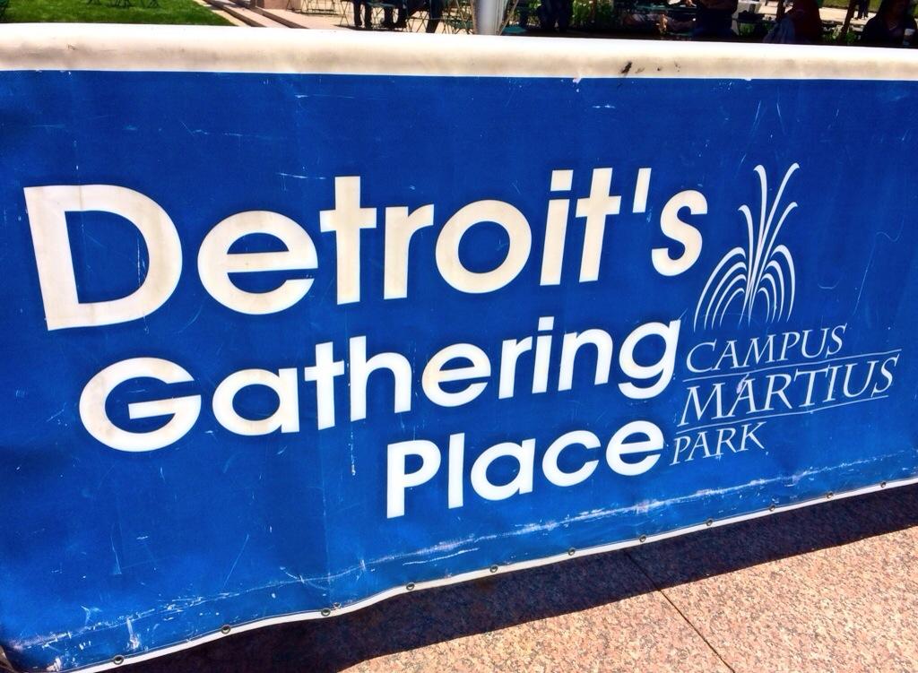detroit's gathering place capmus martius park