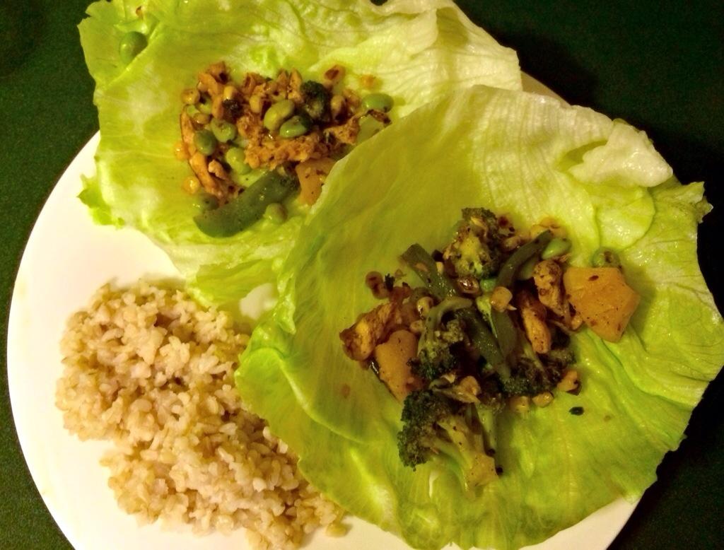 leftover bd mongolian grill lettuce wraps