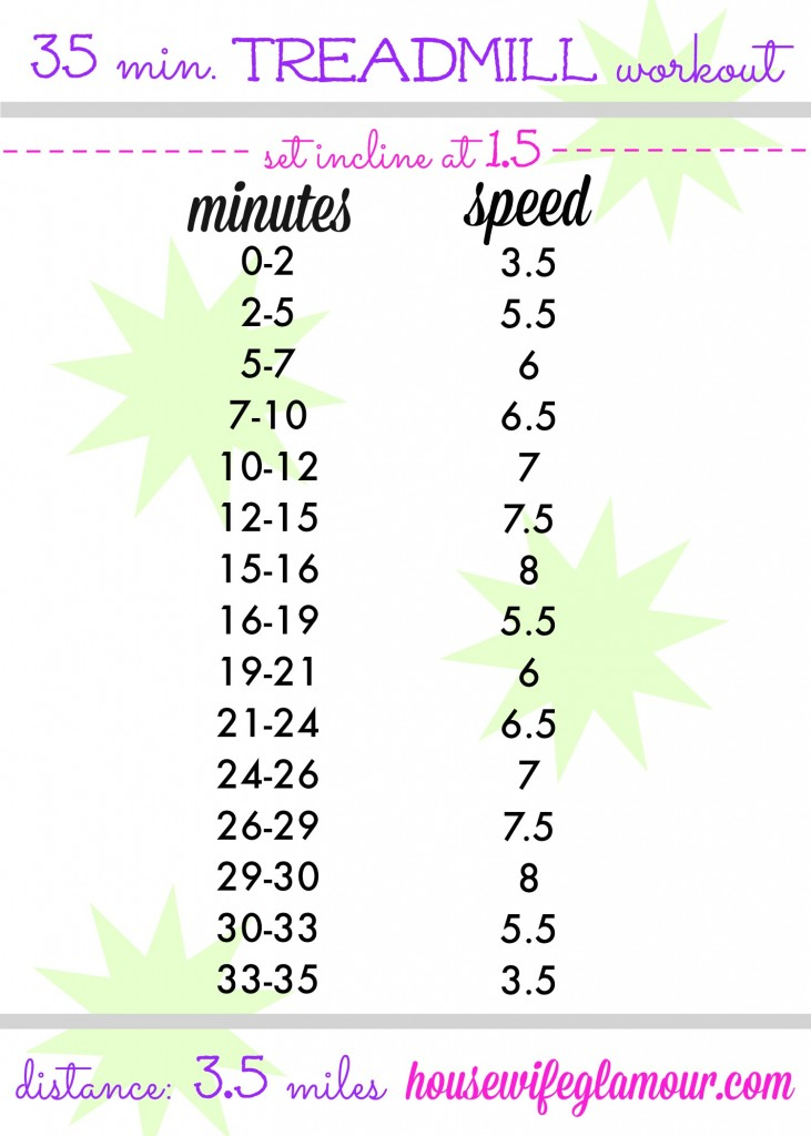 35 minute treadmill workout