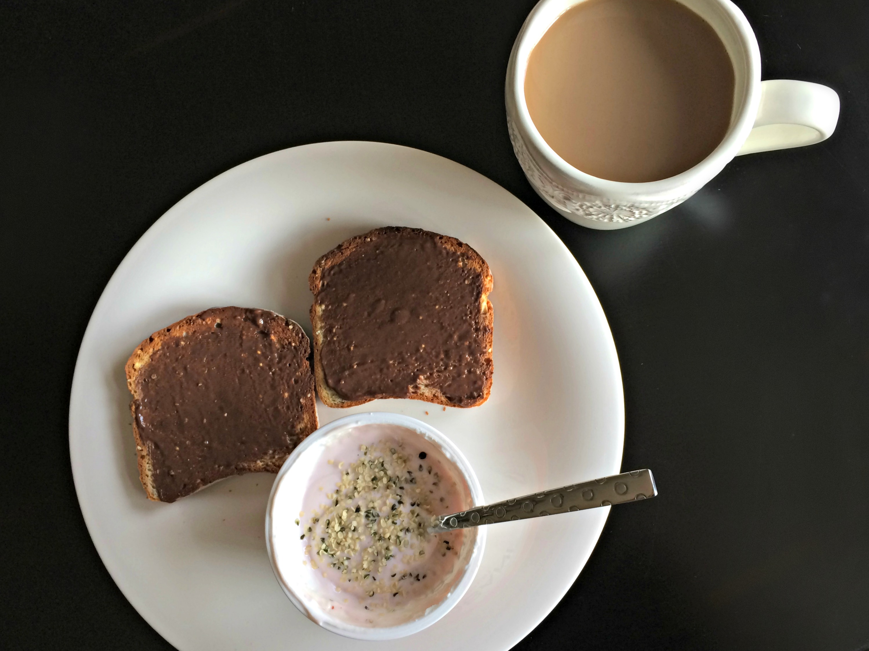 Gluten free toast and greek yogurt