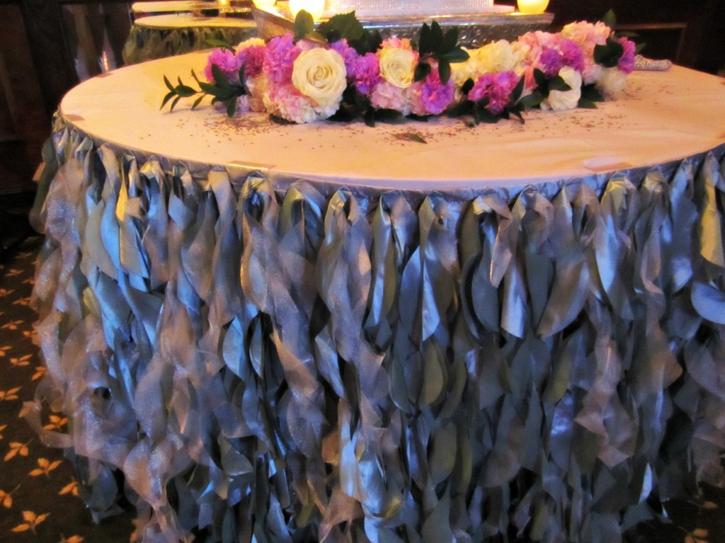 Megan and Jacks wedding cake table