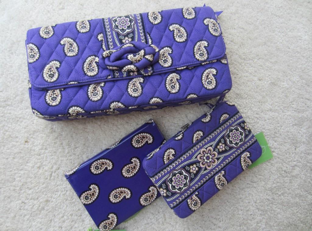 Vera Bradley clutch and wallet