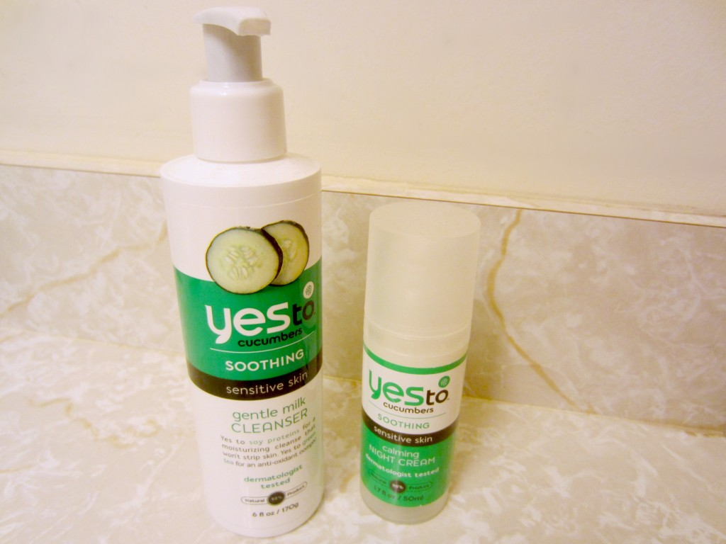 Yes To Cucumbers cleanser and night cream