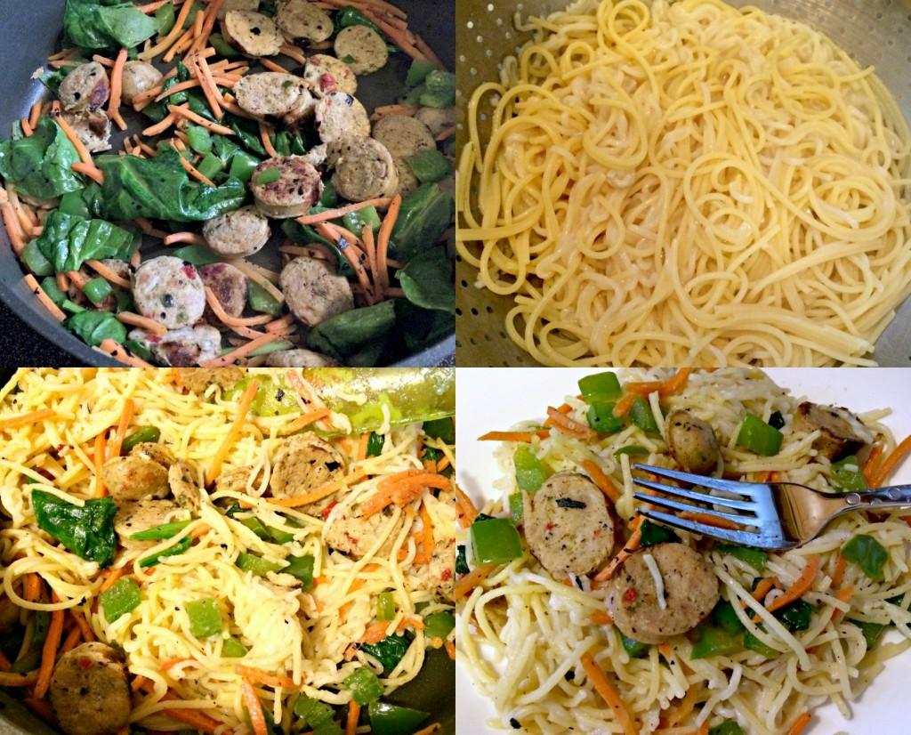 al fresco chicken sausage and veggies gluten free noodles ramen noodles