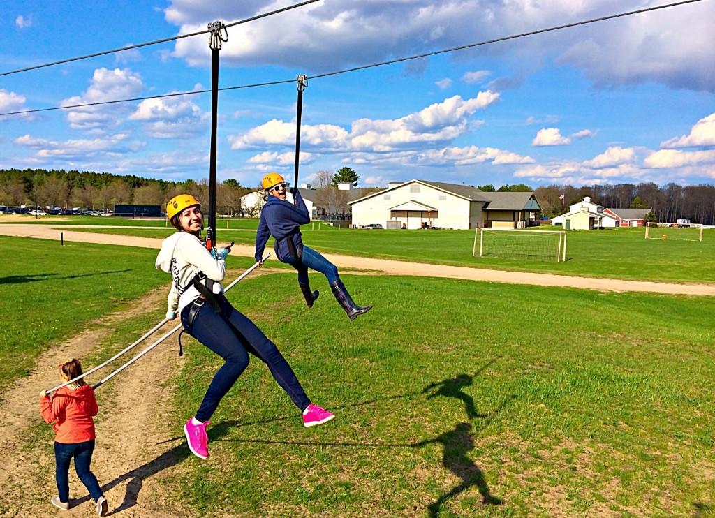 alex and liz ziplining