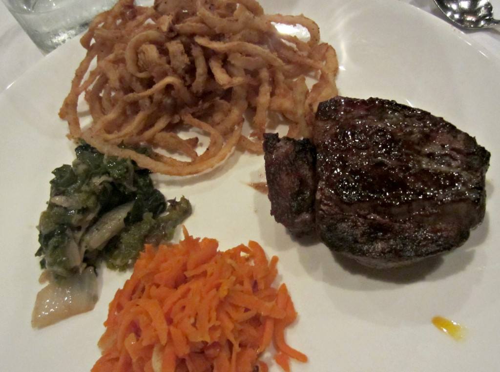 berns steakhouse filet dinner