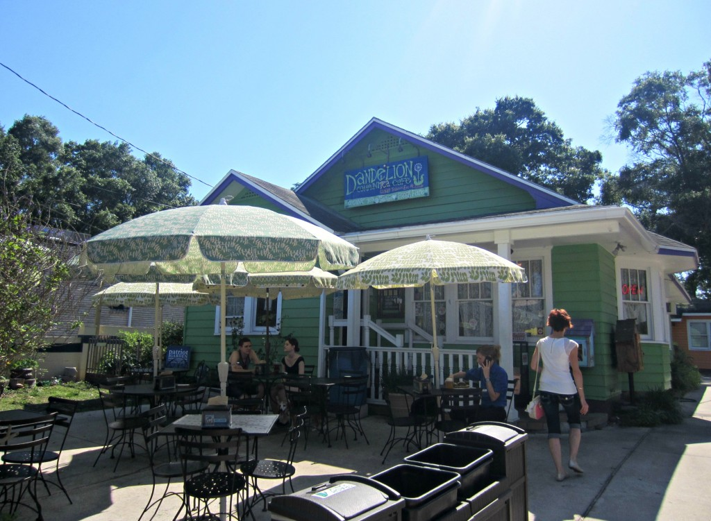dandelion communitea cafe outside