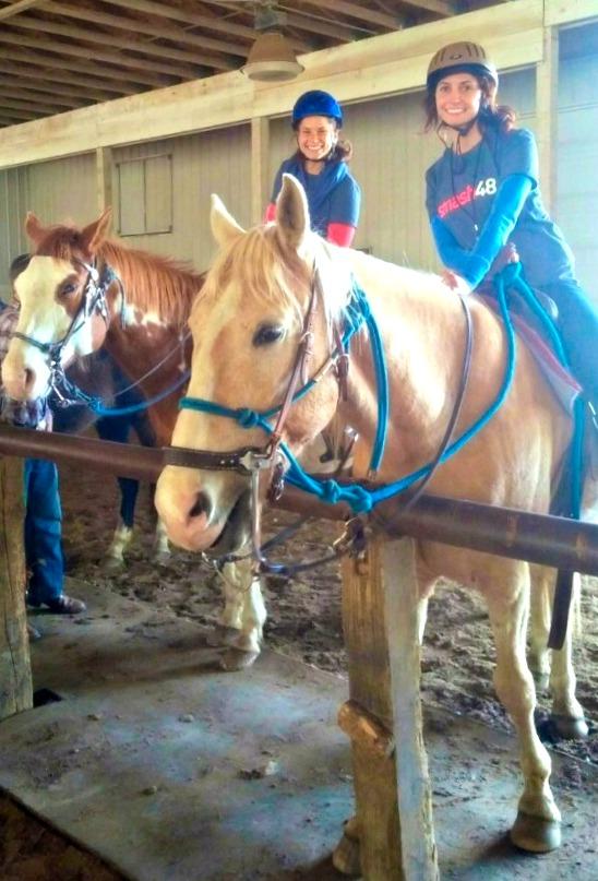 heather and alex horseback riding