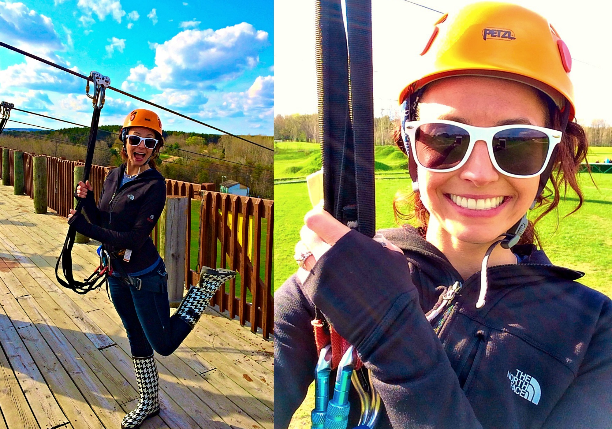 heather zip lining at spring hill