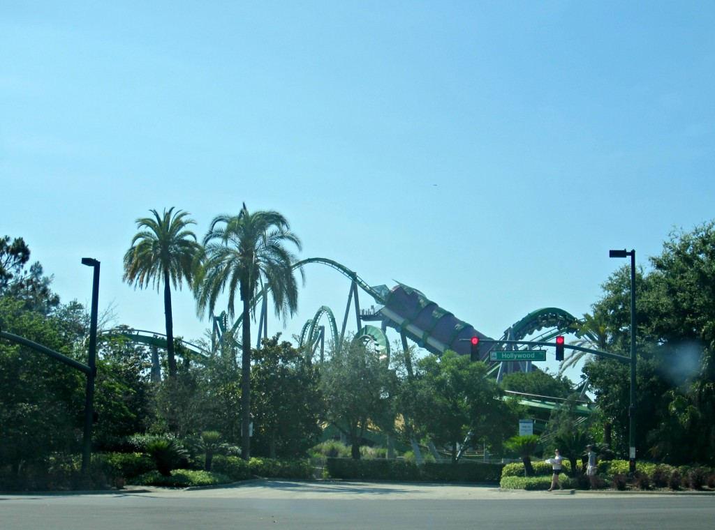 universal studios from road