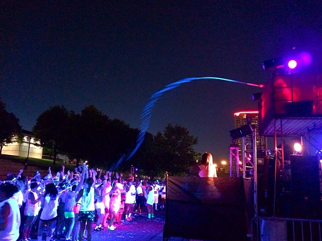 The Neon Dash 5K paint station