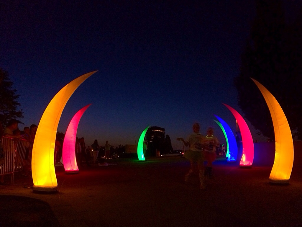 The Neon Dash 5K 2014 finish line
